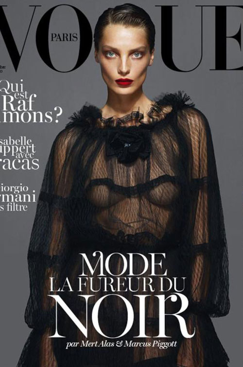 Emmanuelle Alt Vogue Paris September 2012 Daria Werbowy