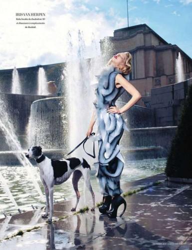 Tanya Dziahileva in LOfficiel Paris— Stylert 1 385x500