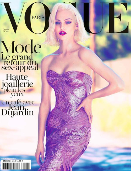 Vogue Paris October 2011 Sasha Pivovarova Cover photographed by Mert and Marcus